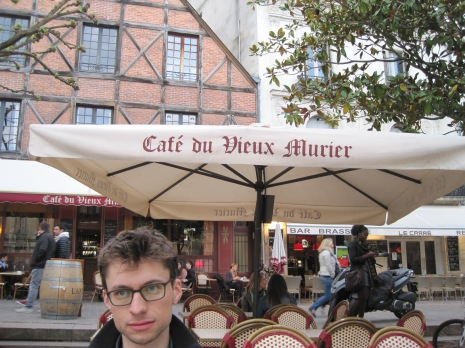 In Tours, France! Closest answer: Belgium (due to Andrew's expression)