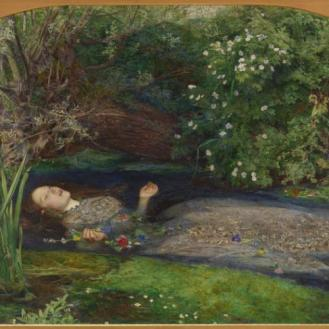 Ophelia, 1851, by Sir John Everett Millais