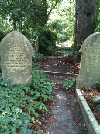 Greenery at Highgate Cemetery