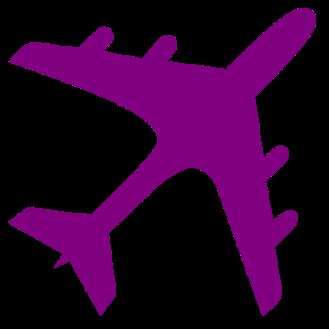 purple airplane