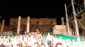 Evening Dance show under the moonlight in Valetta