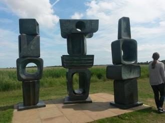 Barbara Hepworth sculpture in the field