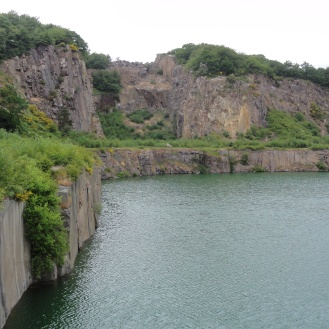 A quarry on our coastal hike