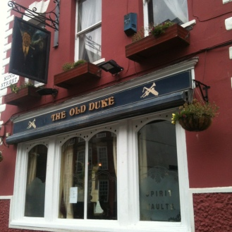 The Old Duke Pub where Andrew played a gig