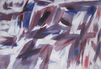 Purple painting at Musee des Beaux-Arts