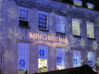 Purple Christmas Market display