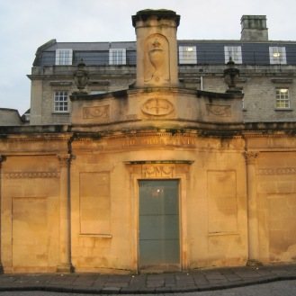 Orange lights on the Thermae Bath Spa