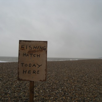 A bleak beach at Dunwich, a town that was once three times the size until the Ocean claimed it.