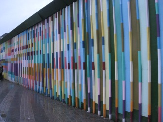 Rainbow wall near Nyhavn