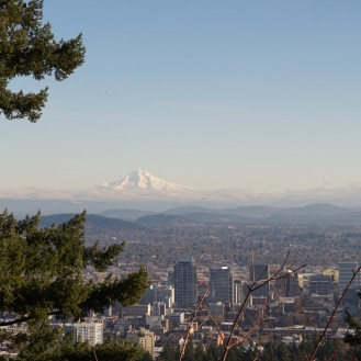 A view of Hood from Pittock Mansion