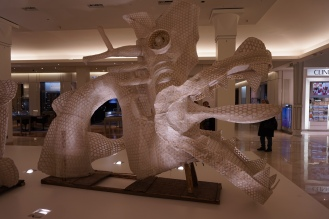An art installation at Le Bon Marche by Ai Wei Wei