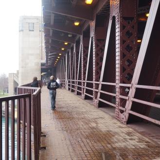 Walking along the Bridge