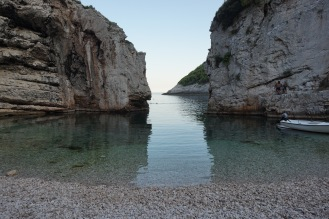Green water of Stiniva