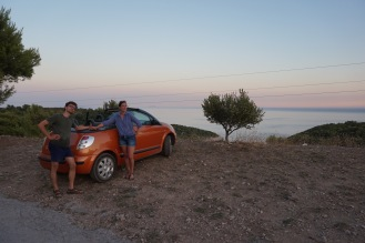 orange rental car