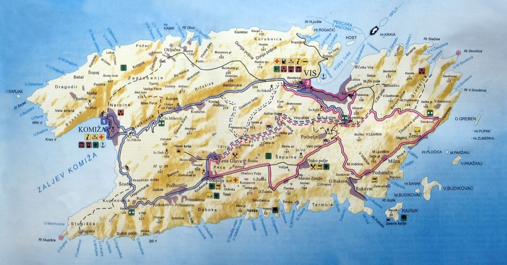 Vis-Island-Map