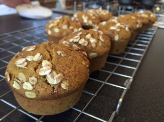Wheat and maple pumpkin muffins
