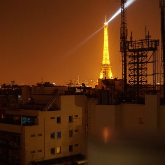orange lights of 1am Paris