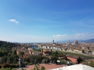 A blue sky over Florence