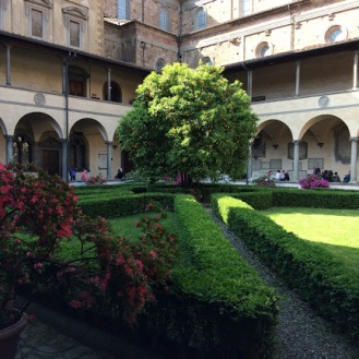 For some reason, people travel far and wide to see this orange tree in the center of the Demedici library. What I found most interesting was the woman they've hired to yell at you if you swing your legs to the wrong side of the barrier.